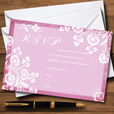 Rustic Pink Lace RSVP Cards