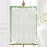 Rustic Green Lace Personalised Wedding Seating Table Plan