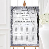 Winter Snow Scene Personalised Wedding Seating Table Plan