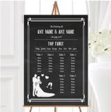 Chalkboard White Personalised Wedding Seating Table Plan