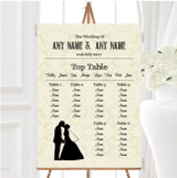 Traditional Chic Personalised Wedding Seating Table Plan
