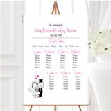Bride And Groom Personalised Wedding Seating Table Plan