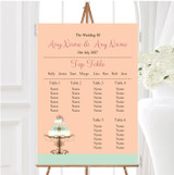 Classical Cake Personalised Wedding Seating Table Plan