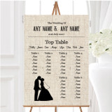 Cotton Chic Personalised Wedding Seating Table Plan