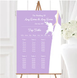 Lilac Bride Personalised Wedding Seating Table Plan