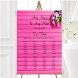 Pink Tulips Personalised Wedding Seating Table Plan