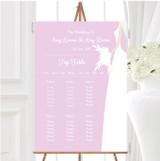 Pink Bride Personalised Wedding Seating Table Plan