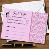 Pink Classic Vintage RSVP Cards