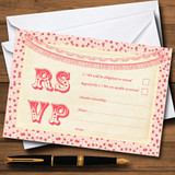 Pink Roses Shabby Chic Garland RSVP Cards