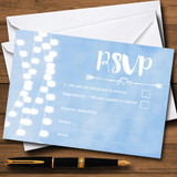 Powder Blue Lights Watercolour RSVP Cards