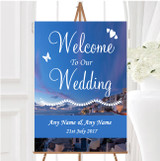 Santorini Greece Jetting Off Married Abroad Personalised Welcome Wedding Sign