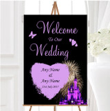 Disney Castle Fireworks Personalised Any Wording Welcome To Our Wedding Sign