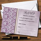 Lavender Lilac Vintage Damask Pretty RSVP Cards