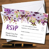 Lilac & Purple Peonies RSVP Cards