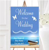 Beach Married Abroad Personalised Any Wording Welcome To Our Wedding Sign