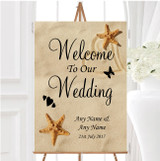 Sandy Beach Romantic Personalised Any Wording Welcome To Our Wedding Sign