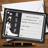 Chalkboard Lilac RSVP Cards