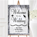 Winter Snow Scene Personalised Any Wording Welcome To Our Wedding Sign
