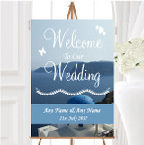 Greece Santorini Personalised Any Wording Welcome To Our Wedding Sign