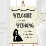 Traditional Chic Personalised Any Wording Welcome To Our Wedding Sign