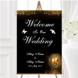 Black Champagne Personalised Any Wording Welcome To Our Wedding Sign
