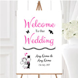Bride And Groom Personalised Any Wording Welcome To Our Wedding Sign