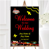 Las Vegas Strip Personalised Any Wording Welcome To Our Wedding Sign