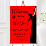 Red Black Bride Personalised Any Wording Welcome To Our Wedding Sign