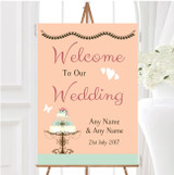 Classical Cake Personalised Any Wording Welcome To Our Wedding Sign