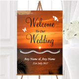 Florida Sunset Personalised Any Wording Welcome To Our Wedding Sign