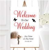 White Winter Personalised Any Wording Welcome To Our Wedding Sign