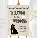 Cotton Chic Personalised Any Wording Welcome To Our Wedding Sign