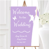 Lilac Bride Personalised Any Wording Welcome To Our Wedding Sign