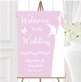 Pink Bride Personalised Any Wording Welcome To Our Wedding Sign
