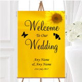 Sunflowers Personalised Any Wording Welcome To Our Wedding Sign