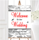Grey Lily Personalised Any Wording Welcome To Our Wedding Sign