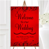 Red Flare Personalised Any Wording Welcome To Our Wedding Sign