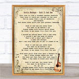 Arctic Monkeys Suck It And See Song Lyric Quote Print