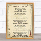 The Beatles I Feel Fine Song Lyric Quote Print