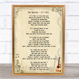 The Beatles If I Fell Song Lyric Quote Print