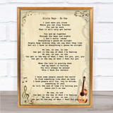 Alicia Keys No One Song Lyric Quote Print