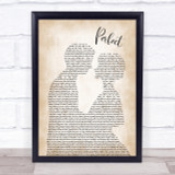 Ed Sheeran Perfect Song Lyric Man Lady Bride Groom Wedding Print