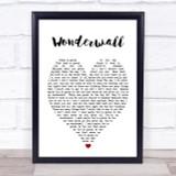 Wonderwall Oasis Heart Quote Song Lyric Print