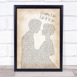 Bryan Adams Everything I Do I Do It For You Song Lyric Man Lady Print