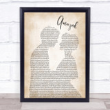 Lonestar Amazed Song Lyric Man Lady Bride Groom Wedding Print