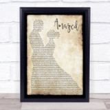 Lonestar Amazed Song Lyric Man Lady Dancing Quote Print