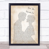 Shania Twain From This Moment On Song Lyric Man Lady Bride Groom Wedding Print