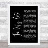 The Beatles Life In My Life Black Script Song Lyric Quote Print