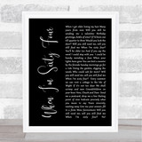 The Beatles When I'm Sixty Four Black Script Song Lyric Quote Print