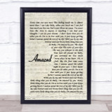 Lonestar Amazed Quote Song Lyric Print